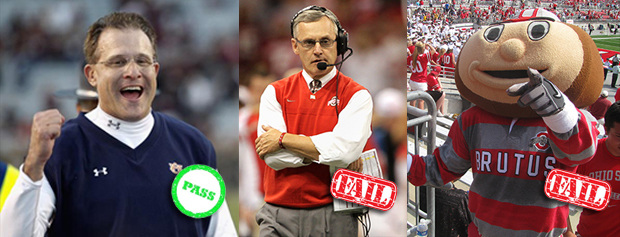 Gus passes, Tressel and Brutus failed